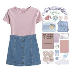 """""""I need someone to rewatch The Office with me"""" by galactictraveler ❤ liked on Polyvore featuring Royce Leather, Korres, Vans, Accessorize, Prada, Miss Selfridge, Jil Sander Navy and pastel"""