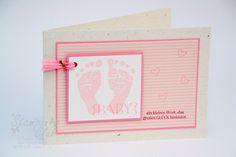 Stampin Up Karte Geburt Baby Girl Mädchen Babyglück Einzigartig Baby Prints One in a Million