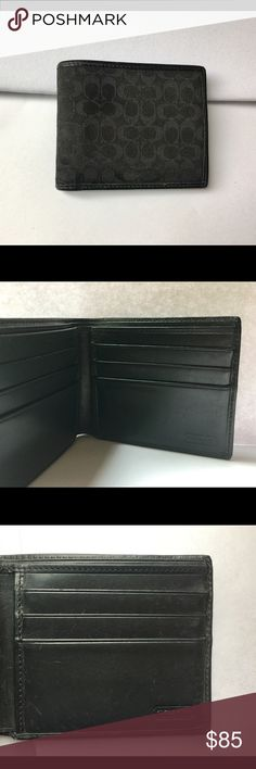 Men  Coach Wallet The condition is good. A few scratch mark as shown in picture. No visible mark on the outside of the wallet. 11 cm in length when fold in half. Bags Wallets