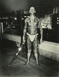 Japanese Gangster: Vintage Photos of Yakuza With Their Full Body Suit Tattoos