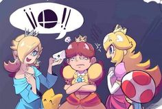 Somebody is jealous that they aren't in the next Super Smash Bros.ohoho maybe next time Daisy. < am I he only one that noticed Daisy is one of peaches 'outfit changes' Super Smash Bros Brawl, Super Mario Bros, Nintendo Characters, Video Game Characters, Nintendo Games, Ghibli, Nintendo Princess, Video Game Art, Video Games
