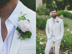 groom boutonnieres - photo by Two Foxes Photography http://ruffledblog.com/tropical-july-4th-styled-wedding