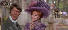 Cornelius Hackl (Michael Crawford) and Barbara Streisand (Dolly Levi) at Irene Molloy's Hat Shop in New York