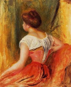1896 ~ Seated Young Woman ~ Pierre Auguste Renoir