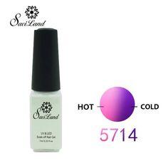 Saviland Mood changing UV Gel Chameleon Temperature Change Color Varnish Soak Off UV Gel Polish Long Lasting Thermo Nail Gel