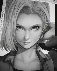 C18 #DragonBallZ #Dessin digital art magion02 #Manga