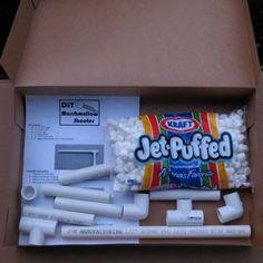 Make a marshmallow shooter kit