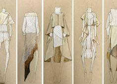 Sketch of dress of fashion designer 15