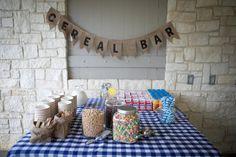Cereal Table Breakfast Bar - #projectnursery
