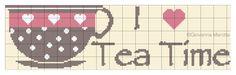 puntocroce e fantasia: I love tea time....