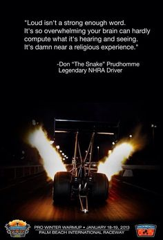 clearly that it is! kendall said OMG THAT IS SO AWESOME!.........was her first time seeing a top fuel race car