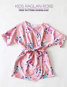 Kids Bathrobe, free pattern - kids robe pattern