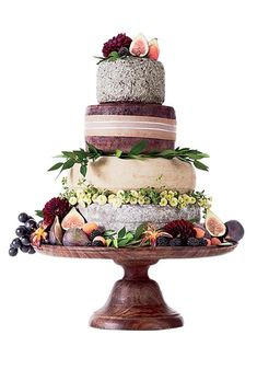 "Brides.com: The Most Creative Wedding Cakes of the Year. Murray's Cheese, New York, NY. Let's be real: There is no better way to end a vineyard wedding than with the ultimate cheese course.  Custom cheese ""cake,"" $250, Murray's Cheese  See more alternative wedding cakes. #weddingcakes"