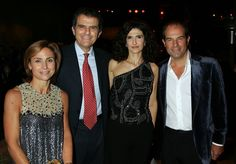 """Chiara, Massimo, Illaria, and Ferruccio Ferragamo. """"I think he would have never believed it,"""" said Massimo Ferragamo, who accepted the Walk of Style Award on behalf of his late father. """"He opened his first store on Hollywood Boulevard in 1923, and I don't think he would have ever imagined that one day Rodeo Drive would be closed for him."""""""