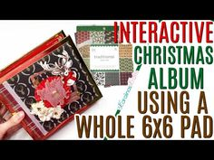 Christmas Mini Albums, Christmas Minis, Christmas Traditions, Paper Crafts, Scrapbook, Projects, Youtube, Ideas, Log Projects