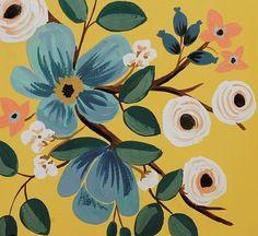 Anna Rifle Bond #patterns #brightpattern #blueandyellow