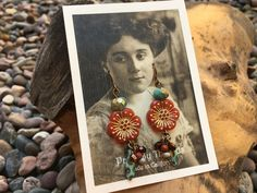 Boho Rustic Artisan Handmade Czech Glass earrings by Bohemystic on Etsy