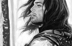 don't you test me, though, just because I play the piano  — evankart:   Bucky+snow, close up :)