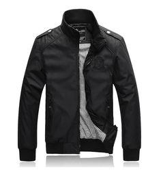 Item Type:Outerwear & Coats Outerwear Type:Jackets Gender:Men Clothing Length:Regular Cuff Style:Conventional Closure Type:Zipper Hooded:No Collar:Mandarin