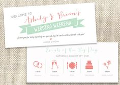 Deposit Payment for the following items:  9x4 Custom Wedding Itinerary  Double Sided Flat printing, 110# Crest Premium Cardstock    You can