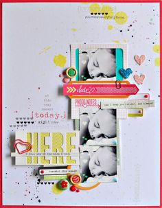 #papercraft #scrapbook #layout Here by Sasha at @Studio_Calico