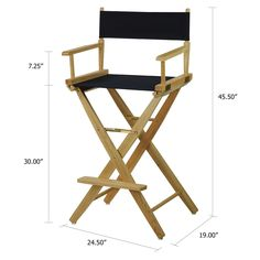 American Trails Extra Wide Premium 30 Inch Bar Height Directoru0027s Chair