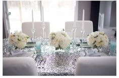 Silver encrusted table top