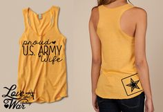 Proud U.S Army wife racer back tank top