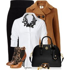 Black and Cognac, created by angkclaxton on Polyvore