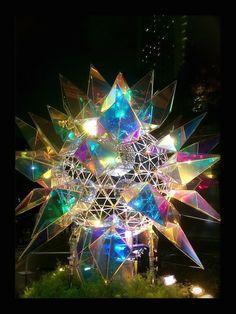 Pottery Sculpture, Sculpture Art, Water Temple, Multimedia Arts, Lights Fantastic, Mirror Shapes, Rainbow Light, Futuristic Art, Light Reflection
