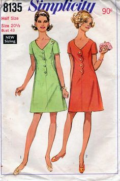 60s Vintage Sewing Pattern Simplicity 8135 by allthepreciousthings, $12.00