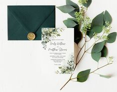 Editable Greenery Wedding Invitation, Botanical Wedding Invite, Outdoors Wedding Invite, Garden Wedding, Summer Foliage, Corjl Template 412 Botanical Wedding Theme, Botanical Wedding Invitations, Simple Wedding Invitations, Wedding Shower Decorations, Wedding Suite, Wedding Welcome, Custom Cards, Garden Wedding, Greenery