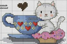 Cross Stitch Letters, Cross Stitch For Kids, Cross Stitch Kitchen, Cute Cross Stitch, Cross Stitch Bird, Cross Stitch Animals, Cross Stitch Charts, Cross Stitch Designs, Stitch Patterns