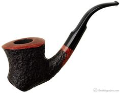 Randy Wiley Galleon Rusticated Bent Dublin Sitter (44) Pipes at Smoking Pipes .com