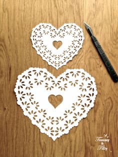 DIY Papercut Doily Heart Design - with PERMISSION TO SELL FINISHED CUTS Whether papercutting is your hobby or your business this design is