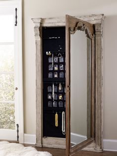 Hooker Furniture Chatelet Floor Mirror With Jewelry Armoire Storage 5351 50003 Hooker Furniture, Rustic Furniture, Mirror Furniture, Western Furniture, Furniture Dolly, Furniture Storage, Furniture Outlet, Discount Furniture, Jewelry Mirror