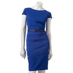 Another great Ponte sheath, and this one comes in great bright colors.  AB Studio Pieced Sheath Dress