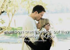Er ist der Eine, wenn ER nicht perfekt ist, aber perfekt zu dir ist...CHECK