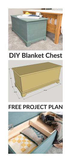 How to build a DIY Classic Blanket Chest | Get the free project plan with how-to steps, tools/materials list & cutting diagram on buildsomething.com #kregjig #kregjigproject #buildsomethingwithkreg #diyfurniture #diyhomedecor #diyproject #diydecor #woodworking #woodworkingprojects #woodworkingplans #storage