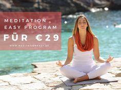 Sommerangebot: Meditiere mit dem 10-Wochen Programm von Meditation Easy für nur €29!  Sommer ist eine exzellente Zeit um sich eine Pause zu gönnen, zu entspannen und aufzutanken. Beim Meditieren in dieser Leichtigkeit kannst du tiefer gehen und einfacher loslassen. Mit Meditation Easy erlebst du die Essenz von Meditation in 30 einzigartigen Meditationstechniken und kannst dir mit 1 Jahr Zugang zu allen Meditationen eine nachhaltige Meditationspraxis aufbauen.