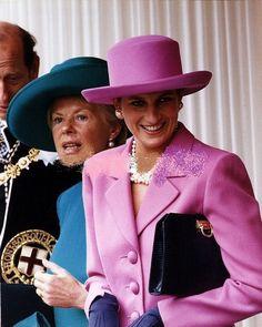 "14 JUNE 1993 PRINCESS DIANA PARTICIPATES IN HER LAST ORDER OF THE GARTER CEREMONY – Princess Diana News Blog ""All Things Princess Diana"""