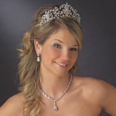 Clear Elegant Bridal Tiara HP 13093