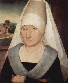 ❤ - HANS MEMLING (1430 - 1494) - Portrait of a old Woman.