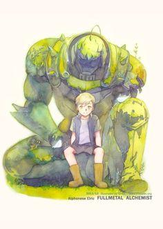 Preciosa ilustración de Fullmetal alchemist.