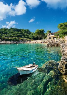 While in Korcula, take a walk down to Zitna Beach. The blue-green waters of the clear bay are a Croatian beauty.