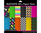 Awesome 80's Clipart - Digital Clip Art Graphics for Personal or Commercial Use. $3.00, via Etsy.