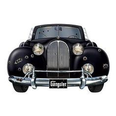 Roaring 20's GANGSTER CAR PHOTO PROP*Decoration*Mafia*Mob*Mobster*