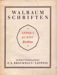 Walbaum Type Specimen by Ralf_H., via Flickr