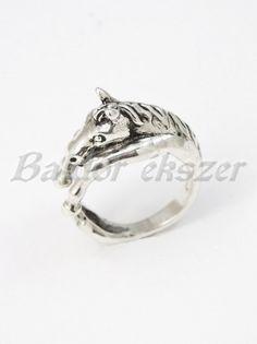 Ezüst ló gyűrű