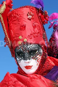 Beautiful people at the Venice Carnival 2013 Venice Italy